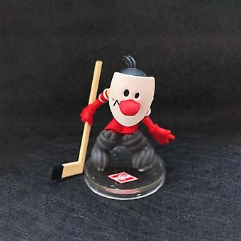 Ice Hockey Player With Stick Little Men Figure Toy