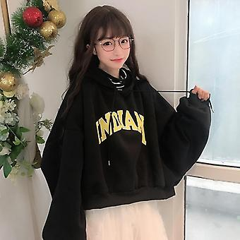 Thicker Letter Warm Pullover Coat