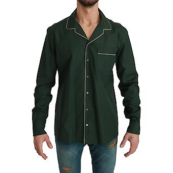 Dolce & Gabbana Men's Cotton Sleepwear Shirt Green TSH4619