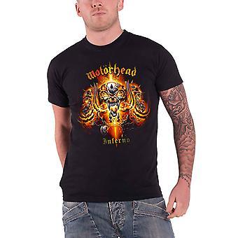Motorhead T Shirt Inferno War Pig Red Band Logo Official Mens New Black