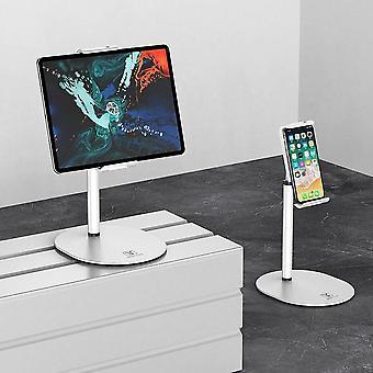 Aluminium legering desktop clip telefoon houder telefoon mount tablet stand 360 graden rotatie voor smartphone tablet 13cm-18cm home office youtube