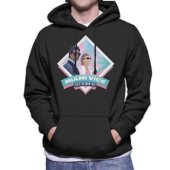 Miami Vice Lets Hit It Men's Hooded Sweatshirt