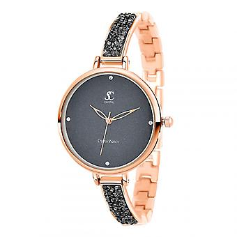 Relógio feminino So Charm MF437-OFN - Pulseira de Alumínio Dor Rosa