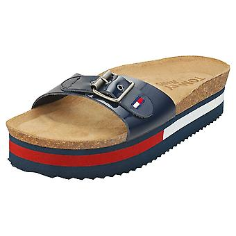 Tommy Jeans Flag Outsole Womens Mule Sandals in Twilight Navy