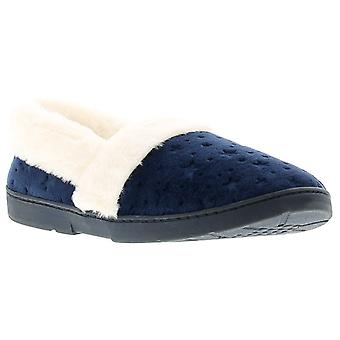 Dr Keller galaxy womens ladies full slippers navy UK Size