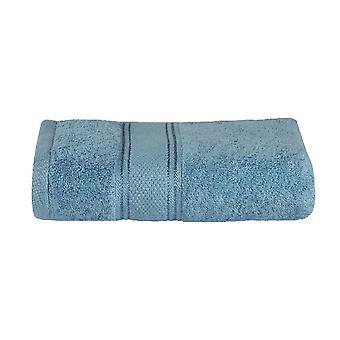 Asciugamano Doccia Colore Azzurro in Cotone, L90xP140 cm
