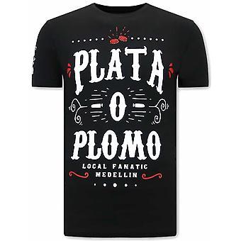 Plata O Plomo Narcos T-shirt - Black