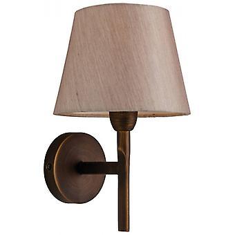 Lámpara De Pared De Transición, Bronce, Con Pantalla
