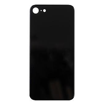 Para iPhone SE 2020 - Tampa traseira de vidro traseiro - Grande Buraco - Preto