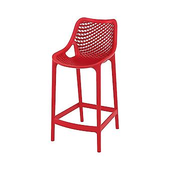 Fusion Living Air Plastic Mid Height Bar Stool - Various Colours (PACK OF 2)