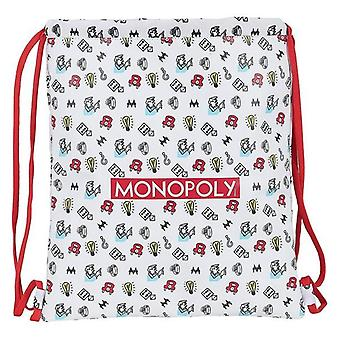 Backpack with strings monopoly white