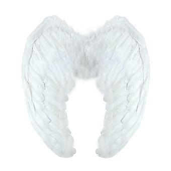 Yummy bee angel fairy wings kostium fantazyjny strój duży 60 x 40 czarny biały czerwony deluxe prawdziwe pióra ( wof60873