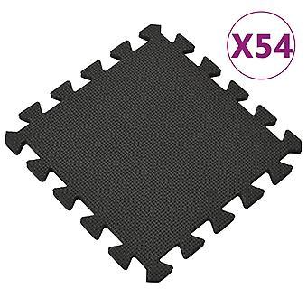 Floor Mats 54 Pcs 4.86銕?eva Foam Black