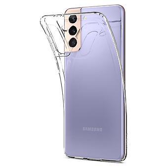 Coque Pour Samsung Galaxy S21 5g, Liquid Crystal Transparente
