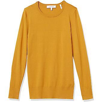 Marque - Lark & Ro Women's Long Sleeve Crewneck Sweater, blanc, Medium