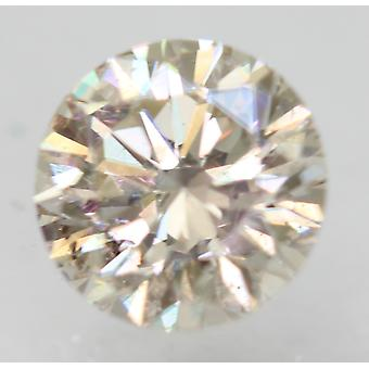 Certificado 0.56 Quilates J VS2 Redondo Brillante Diamante Suelto Natural Mejorado 5.25mm