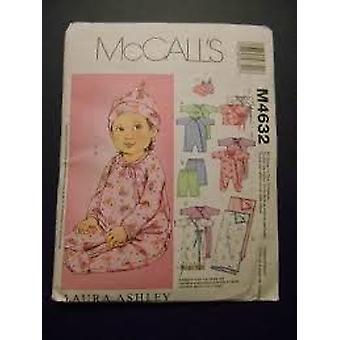 McCalls Nähen Muster 4632 Baby Kleinkind Overall Top Sack Hose Decke Größe S-XL ungeschnitten