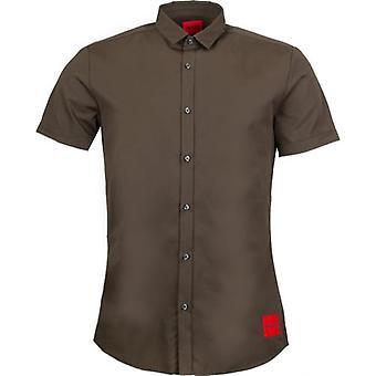 BOSS אמפסון W תיקון לוגו חולצה עם שרוולים קצרים