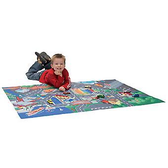 Estrada de brinquedos de Dickie jogar tapete 100 x 70 cm