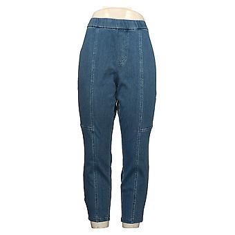 Isaac Mizrahi En vivo! Mujer&s Petite Pantalones Punto Denim Azul A371385