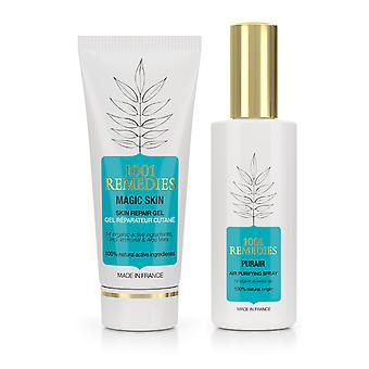 Beauty gift set - acne spot cream & purifying room spray 100% natural & vegan, made in france