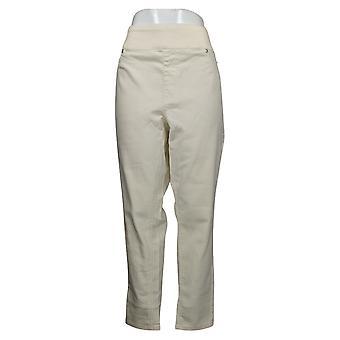 DG2 Af Diane Gilman Women's Jeans Plus Stretch Ultra Skinny Ivory 733923