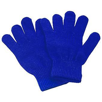 女の子キッドフルフィンガー伸縮ニット冬の暖かいピック手袋