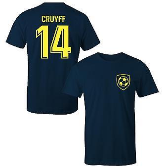 Johan Cruyff 14 klub stil spiller t-shirt