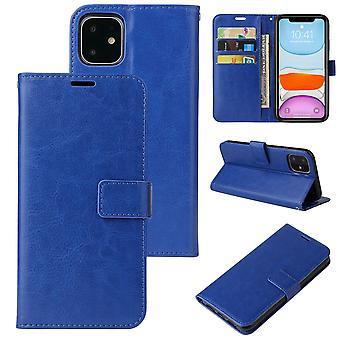 Flip folio leather case for iphone 11 dark blue pns-3408