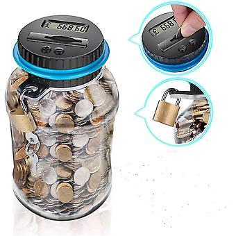 פיגי בנק נגד מטבע תיבת אלקטרונית LCD דיגיטלי ספירת מטבע כסף חיסכון בצנצנת תיבת עבור Usd יורו Gbp כסף