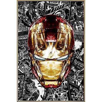 JUNIQE Print - Blod & Guld - Iron Man Plakat i gul og grå