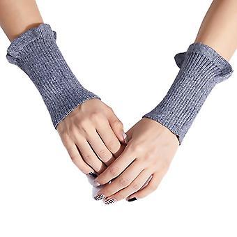 Dámské žebrované pletené rukávy Rukavice