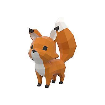 Söpö kettu eläinpaperi mallit 3D palapeli DIY taide paperi käsityö