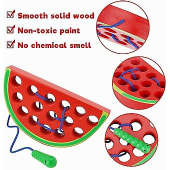 Lacing toy for toddlers wooden threading toys educational learning fine motor skill toys car plane travel games dt6087