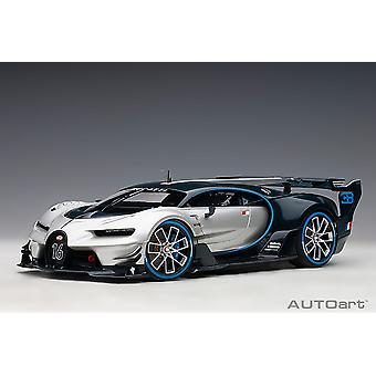Bugatti Vision GT (2015) in Silver and Blue Carbon (1:18 scale by AUTOart 70987)