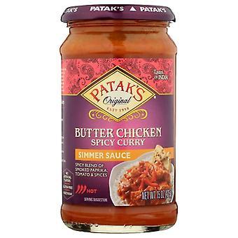 Pataks Sauce Spicy Bttr Chicken, Case of 6 X 15 Oz