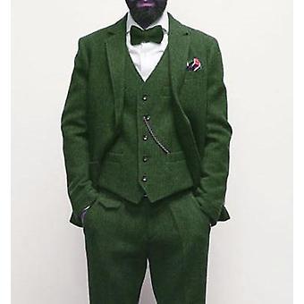 Winter Retro- Herringbone Pattern, Tweed Jacket, Pants, Vest Suit