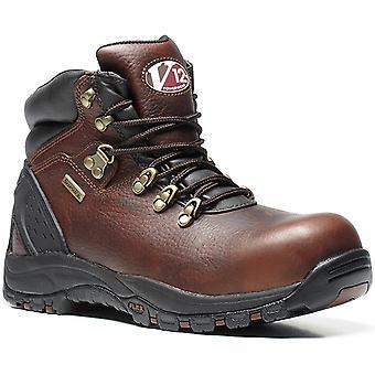 V12 V1219 Storm Brown Oiled Waterproof Hiker Boot EN20345:2011-S3 Size 9