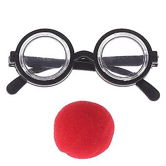 Circular Glass Red Nose Cosplay Costume Glasses Birthday Party Supplies Decoration Kids Funny Party