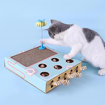 חתול גירוד צעצועים להכות Gophers צעצועים מצחיק אינטראקטיבי ללבוש עמיד חתלתול נייר גלי