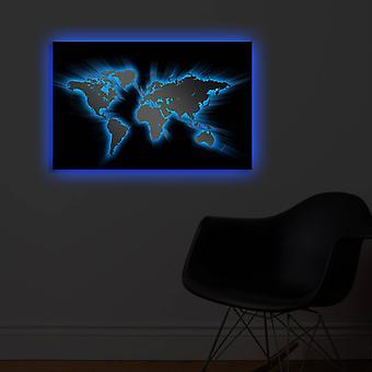 4570DACT-35 Wielokolorowe dekoracyjne ledowe płótno oświetlone obrazem
