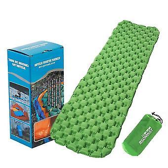 20dtpu Schneeflockenförmiges aufblasbares Kissen, tragbare Reise-Outdoor-Isomatte (grün)