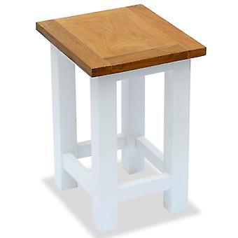 mesa lateral vidaXL 27x24x37 cm de carvalho de madeira maciça