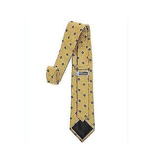 Pánská klasická jednobarevná tenká kravata (žlutá)