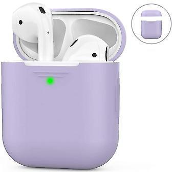 Airpods Silicone Case Compatible With Apple Airpods 2 & 1(Purple)