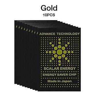 (Goud) 1/5/10 PCS Anti Stralingsbescherming Quantum Scalar Scalar Telefoon PC Pad Sticker