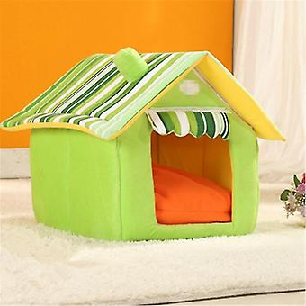 JYMC904589749  Removable Washable Dog House Warm Soft Home Shape Bed With Cushion for Dog Cat,