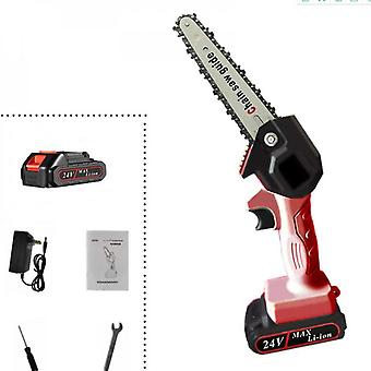 Evago Garden Tools Mini Chainsaw Portable Electric Saw ,4-inch/6-inch Cordless 24v One-handed Electric Saw,pruning Saw Garden Logging Saw 1 Battery 1