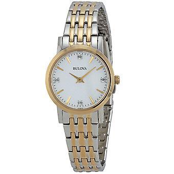 Bulova Women's Casual Silver Dial Watch - 98P115