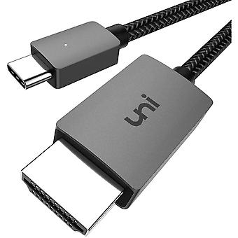 USB C to HDMI Cable 4K, uni USB Type C to HDMI Cable(Thunderbolt 3 Compatible) for Home Office,